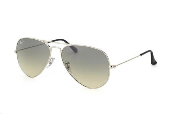 39dd3f20284d Ray Ban RB3025 AVIATOR - Crystal Silver (Grey Gradient lens)   58 ...