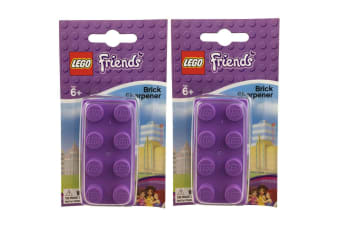 2x Lego Manual Friends Brick Pencil Cutting Sharpener Tool f/ Kids School/Office
