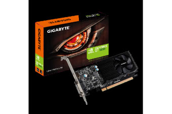 Gigabyte nVidia GeForce GT 1030 2GB PCIe Video Card 4K @ 60Hz HDMI DVI 2xDisplays Single Slot Low Profile 1506/1468 MHz ~GV-N1030SL-2GL