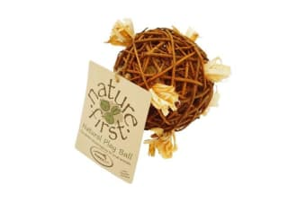 Happy Pet Natures First Natural Play Ball (Brown)