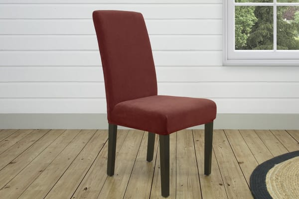 SureFit Pearson Dining Chair Cover - Red
