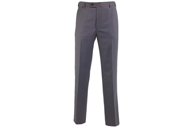 Alexandra Mens Icona Flat Front Formal Work Suit Trousers (Charcoal) (42T)