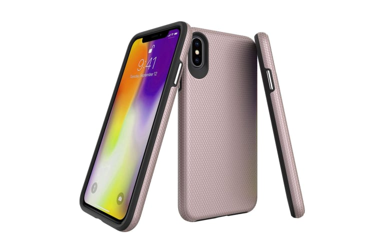 For iPhone XS MAX Case  Armor Rose Gold Slim Shockproof Protective Phone Cover