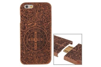 For iPhone 6S 6 Case Benedictine High-Quality Detachable Wood Shielding Cover