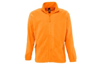 SOLS Mens North Full Zip Outdoor Fleece Jacket (Neon Orange) (M)