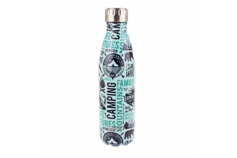New Oasis 500ml Stainless Steel Double Wall Insulated Drinking Bottle Wanderlust