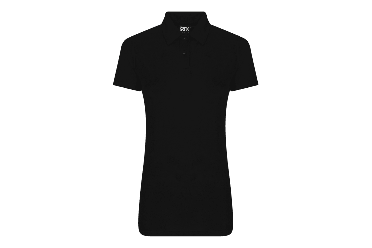 Pro RTX Womens/Ladies Pro Polyester Polo (Black) (S)