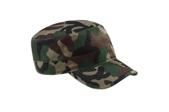 Beechfield Camouflage Army Cap / Headwear (Pack of 2) (Jungle) (One Size)