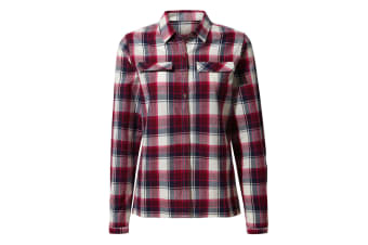 Craghoppers Womens/Ladies Dauphine Long Sleeved Shirt (Winter Rose Check) (12 UK)