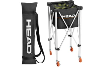 Head Trolley Travel Cart Bag Basket Wheels for 120 Tennis Ball Baseball Softball