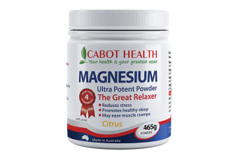Cabot Health Magnesium Ultra Potent Citrus Powder 465g