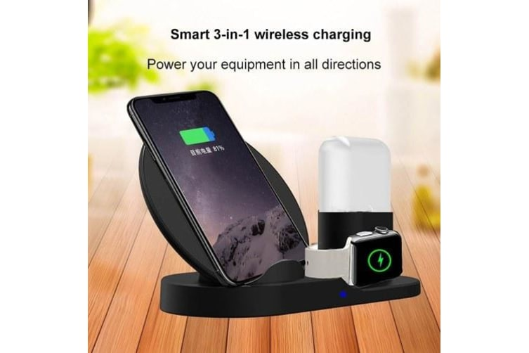 3 in 1 Wireless Charging Station USB Fast Charge Stations Phone Holder for IWatch Iphone Airpods