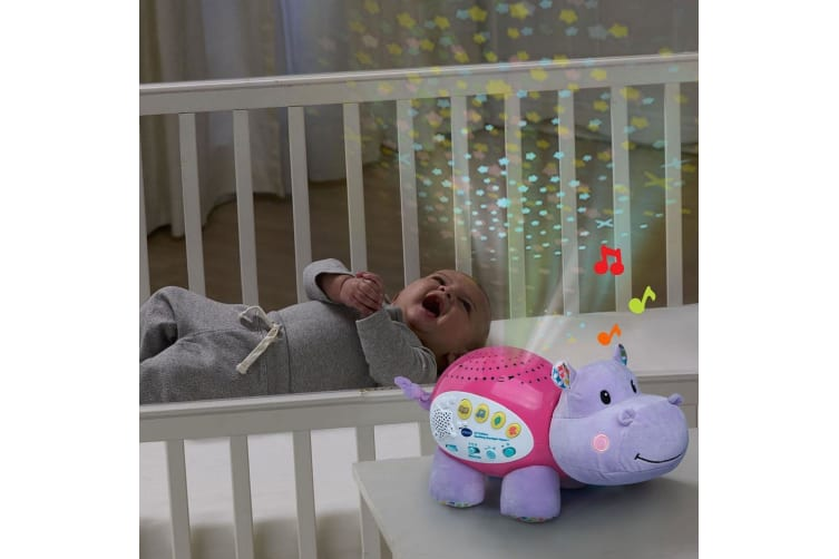 Vtech Baby Lil' Critter Soothing Starlight Sounds Hippo - Pink
