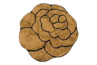 Non-Slip Striped Flower Shaped Area Mat/Rug (3 Colours) (Brown)
