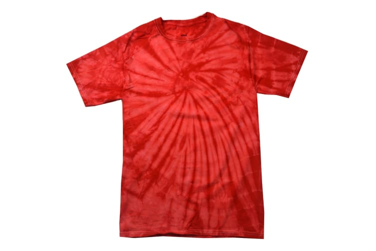 Colortone Adults Unisex Tonal Spider Short Sleeve T-Shirt (Spider Red) (S)