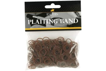 Lincoln Plaiting Bands (500 Pack) (Brown)