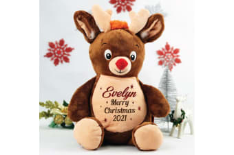 Personalised Christmas Reindeer Plush