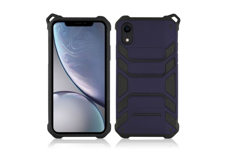 Shockproof Armour Protective Case For iPhone XR Dark Blue