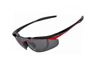 Outdoor Sports Glasses Fashion Solar Polarizing Glasses Removable 5-Piece Suit - Red Red 5Pcs
