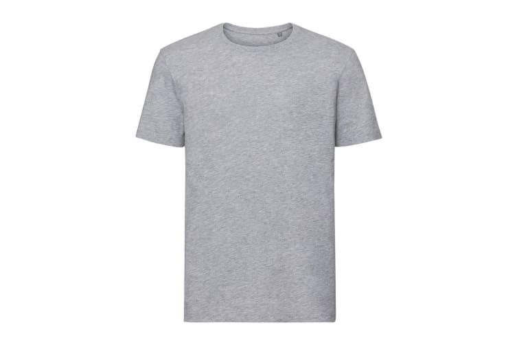 Russell Mens Authentic Pure Organic T-Shirt (Light Oxford Grey) (XXL)