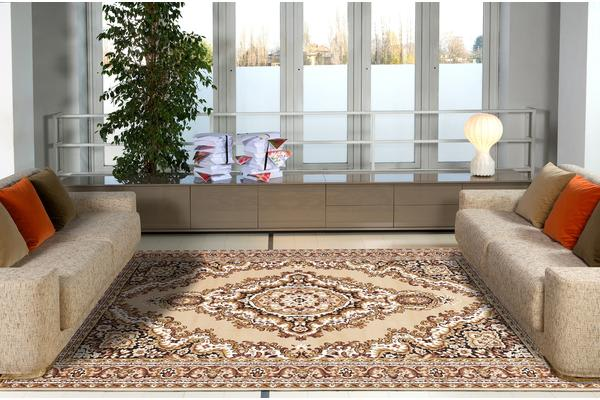 Traditional Medallion Rug Beige 230x160cm