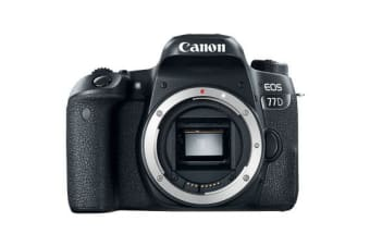 New Canon EOS 77D Body 24MP Digital SLR Camera (FREE DELIVERY + 1 YEAR AU WARRANTY)