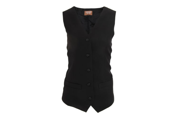 Dennys Joseph Alan Womens/Ladies Self Back Waistcoat (Pack of 2) (Black) (20)