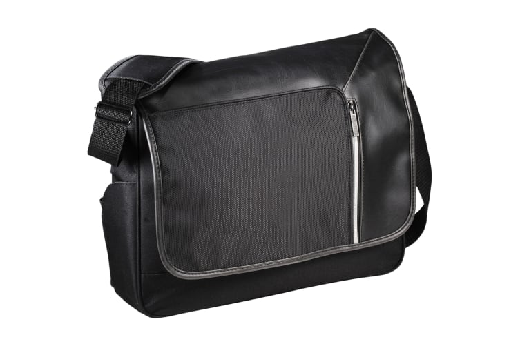 Avenue Vault Rfid 15.6in Computer Messenger Bag (Solid Black) (9.5 x 39.1 x 30.5cm)