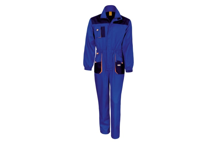 Result Unisex Work-Guard Lite Workwear Coverall (Breathable And Windproof) (Pack of 2) (Royal / Navy / Orange) (XL)