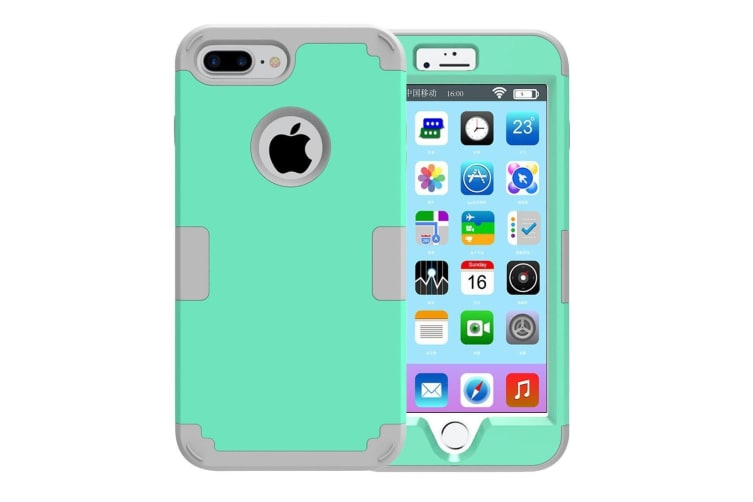 For iPhone 8 PLUS 7 PLUS Case Stylish Triple Layer Armour Protective Cover Green