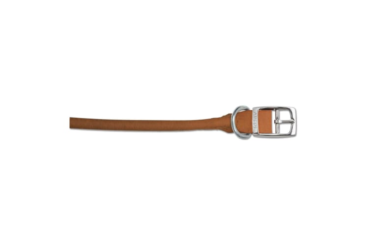 Ancol Pet Products Heritage Round Sewn Dog Collar (Chestnut) (55-63cm (Size 8))