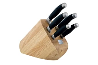 Shikoku 6pcs Stainless Steel Kitchen Knife Block Set