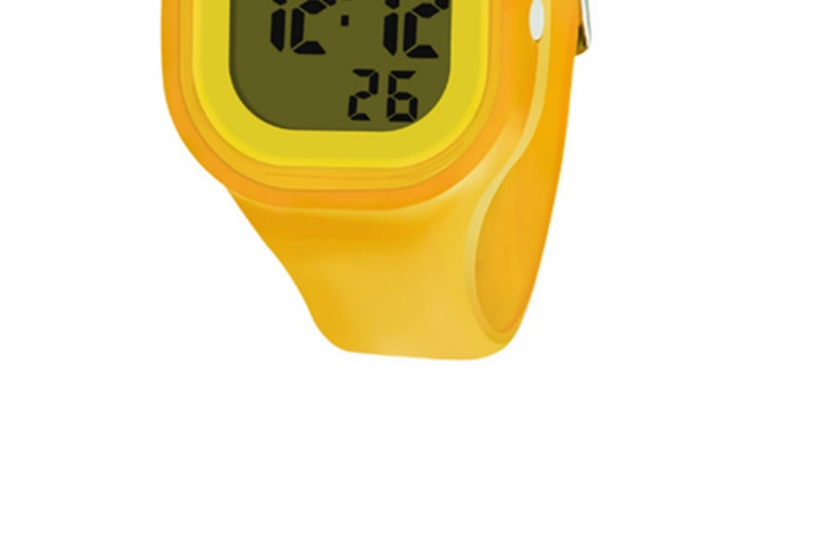 Casual And Colorful Digital Waterproof Silicone Watch Yellow