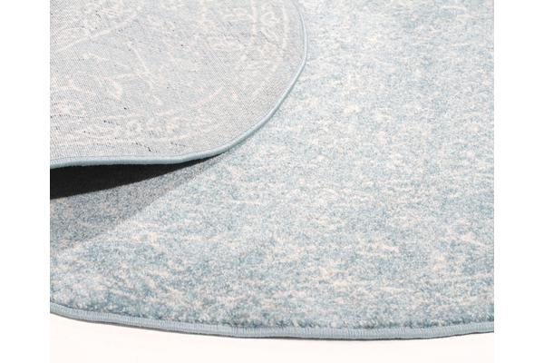 Depth Blue Transitional Rug 150x150cm