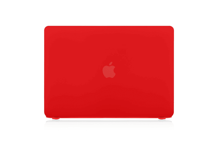 """Hard Case Cover for Apple Macbook Pro 13"""" Inch A1708-Matte Clear-Matte Red"""
