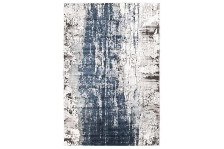 Roxana Distressed Timeless Rug Blue Grey White 330X240cm
