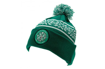 Celtic FC Official Adults Unisex SF Ski Hat (Green/White)