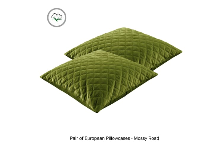 Pair of Quilted European Pillowcases Mossy Road by Accessorize