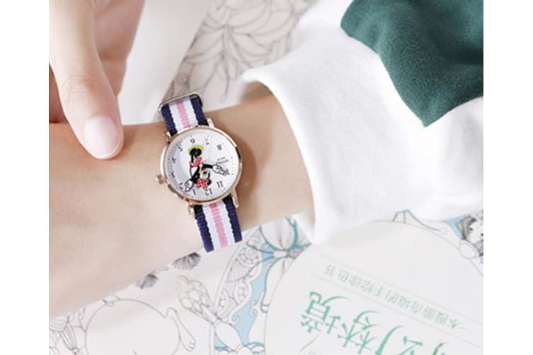 Select Mall Cute Watch Minnie Cute Quartz Watch Mickey Cartoon Waterproof Watch Suitable for Boys and Girls-Pink