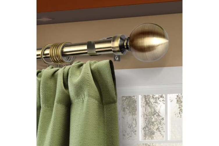 Curtain Rod Metal Pole BRASS 160-300cm