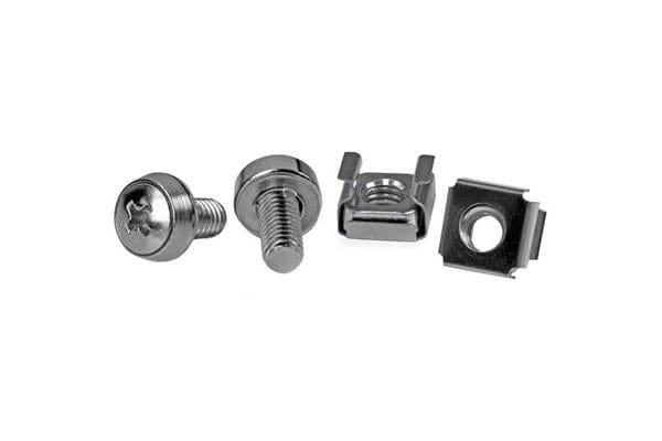 STARTECH CABSCREWM6 50 Pkg M6 Mounting Screws and Cage Nuts