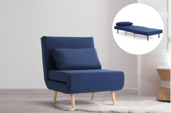 Ovela Jepson Convertible Lounge Chair and Bed (Midnight Blue)