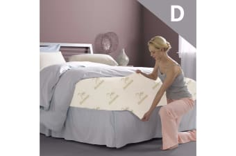 Double Bamboo Fully Fitted Mattress Protector/Fitted Sheet