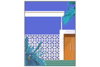 Breeze Point Architecture | Floating Frame Artwork | 80 x 100cm