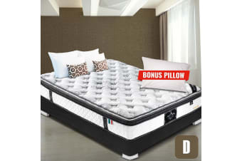 DOUBLE Mattress Euro and Pillow Top 9 Zone Pocket Spring Latex Memory Foam 34CM