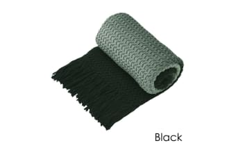 Ombre Throw Rug Black by Logan and Mason