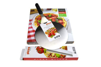 33cm Pizza Stone + Serving Rack + Lifter + Rocking Cutter