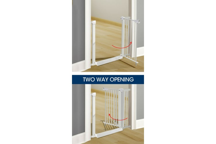 Baby Kids Pet Safety Security Gate Stair Barrier Doors Extension Panels 10cm WH White