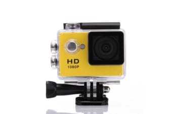 1080P Full Hd Sports Camera 30M Waterproof Loop Rec A9 Action Camera - Yellow