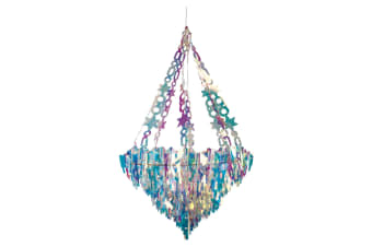 Christmas Shop Holographic Icicle Chandelier (Holographic)